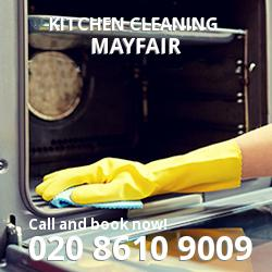 Mayfair commercial kitchen cleaning W1