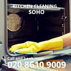 Soho commercial kitchen cleaning W1